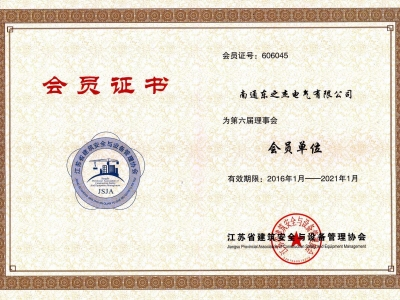 南通协会会员证